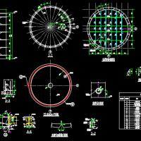 钢结构筒仓结构设计CAD施工图