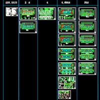 六层框架结构住宅楼结构设计施工图(筏板基础 )