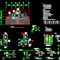 某七层住宅楼加建电梯建筑及结构全套图
