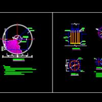 20-30米高杆灯基础CAD详图