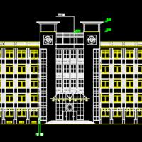 8160平米五层框架结构教学楼建筑施工图