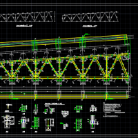 18米跨钢屋架CAD图