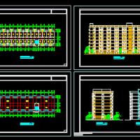 8层中学生公寓楼建筑方案图