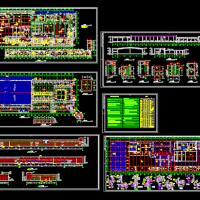 某食品公司大型自动屠宰车间建筑施工图