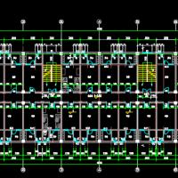 4406平米六层框架宿舍楼毕业设计(计算书、建筑、结构图)