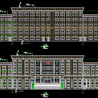 五层行政办公楼建筑方案图