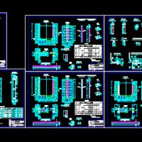 某水利工程2.0x1.8米平板闸门CAD结构图