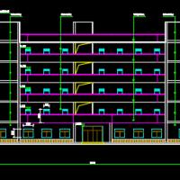 六层框架宿舍楼毕业设计(含建筑结构图、计算书)