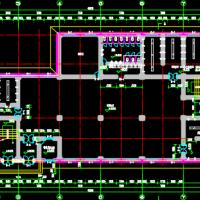 安家岭选煤厂两层框架浴室建筑及结构图