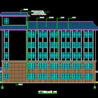 甘肃3023平米五层框架结构敬老院建筑施工图