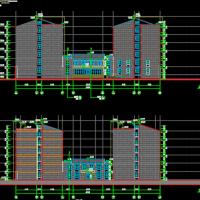 滁州学院6层砌体结构宿舍楼建结水电全套施工图