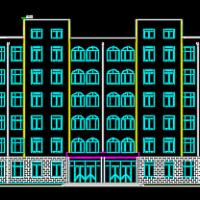 6层框架凹字形教学楼建筑及结构施工图纸
