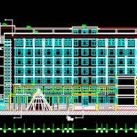 某7层框架结构办公楼建筑设计施工图纸