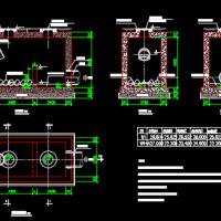 泵站压力排水管消能井设计图