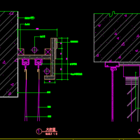 窗帘盒及百叶窗CAD详图