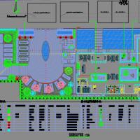 太古港商业城招商中心售楼处日式景观施工图