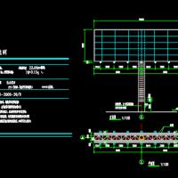 22米高双面高炮广告牌CAD图纸