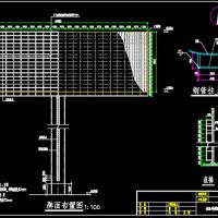 钢结构三面体高炮广告牌施工图