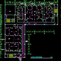 四层L形档案馆七氟丙烷气体灭火系统设计图纸