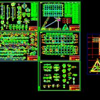 三面体高炮广告牌CAD结构施工图