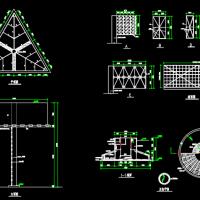 高炮广告牌CAD设计施工图纸