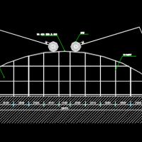 25米X100米日光温室施工图