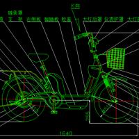 自行车CAD图(总装图)