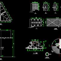 高炮广告牌结构设计图