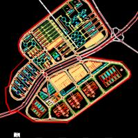 煤炭物流园规划设计总平面图