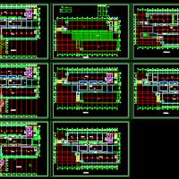 大学六层图书馆建筑设计规划施工图