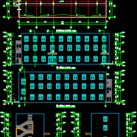 1217平米三层物业办公用房建筑设计