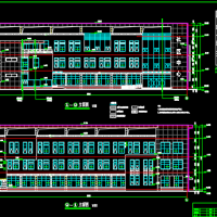 江阴3830平米三层社区服务中心建筑设计图