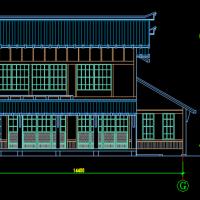 日本风格二层自建别墅建筑设计图