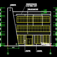 527平米三层框架小型办公楼建筑水电图