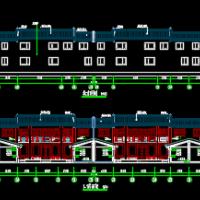 现代联排四合院建筑设计图
