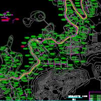 某滨湖道路绿化喷淋施工图纸