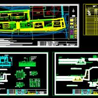 某厂矿生活区路面硬化施工图