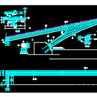 36m斜腿坦拱人行天桥全套施工图