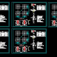 线路铁塔基础设计CAD图纸