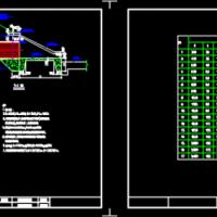 排水涵洞八字式排水管道出水口CAD详图