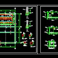 某变电工程35kv配电室基础及电缆沟CAD图纸