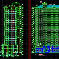 12996平米18层高层住宅楼建筑设计图