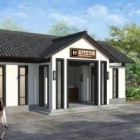 旅游景区坡屋顶公共厕所建筑施工图(带效果图)