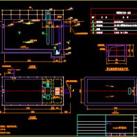 平流式隔油池CAD图纸