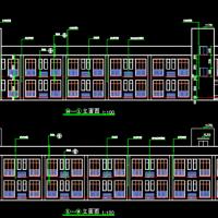 广联达算量大赛1732平米两层框架结构宿舍楼建筑图