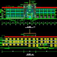 区级消防站建筑设计施工图