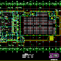 10653平米学校食堂及风雨操场建筑图
