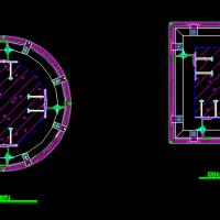 石材包柱节点构造CAD详图集
