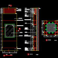 石材铝板木饰面圆柱方柱节点CAD详图