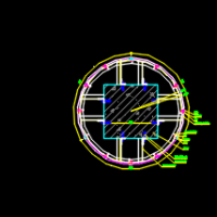铝板包柱CAD节点大样图